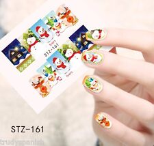Full Wrap Water Transfers Nail Art Stickers Decals Christmas Rudolph Reindeer