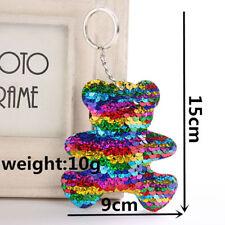 Keyring Bear,Butterfly Keychain Glitter Sequins Key Ring Purse Pendants Holder