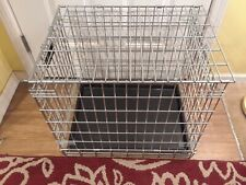 STEEL ANIMAL CAGE/CRATE W/ UNDER PAN