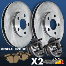 For 1998 1999 Ford F150 ABS Front Brake Rotors And Hub Bearings Ceramic Pads