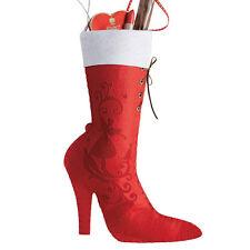 Edler Nikolausstiefel ROT Nikolaussocke zum Befüllen Weihnachten Deko Stiefel