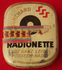 Blechschachtel Radionette Grammophonnadeln, leise