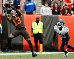 ODELL BECKHAM JR 8X10 PHOTO CLEVELAND BROWNS PICTURE NFL FOOTBALL VS TITANS