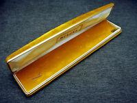 Vintage Long Bulova 14 Karat Gold Diamond Wristwatch Shipping Box Case
