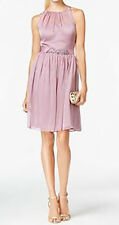 Adrianna Papell New Belted Chiffon Halter Dress Size 12 MSRP $159 #AP 2/12