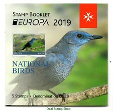 Malta 2019 National Birds Booklet - Europa Miniature Sheet Unmounted Mint