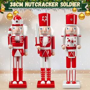 38CM Large Traditional Nutcracker Soldier Christmas Decoration Gift Decor   */!