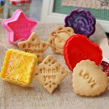 4pcs/set Love Thanks Mold Cookie Biscuit Cutters Cake Cupcake Decorating Tools