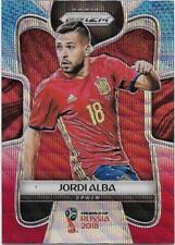 2018 Panini FIFA World Cup Blue Red Wave Prizm (203) Jordi ALBA Spain
