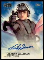 2020 Women of Star Wars Auto #A-LW Blue Leeanna Walsman as Zam Wesell /50