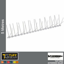 Bird Spikes x 5 Metres Wall Fence Deterrent Repeller Pigeon Seagull Anti Pest