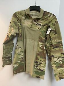 US ARMY MULTICAM ARMY COMBAT SHIRT TYPE II 1/4 ZIPPERED SZ LARGE NEW