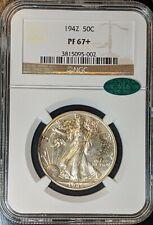 1942  Proof Walking Liberty silver half dollar 50c NGC PF67+ CAC