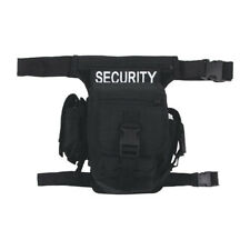 Security Waist Hip Bag Bum Travel Combat Fanny Pack With Logo 10 Pockets Black