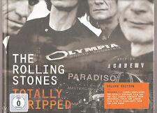 """Rolling STONES """"totally spogliato"""" Deluxe Edition 4dvd + CD Hardbook SEALED RARE"""