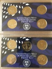 More details for united states mint - state quarters proof sets - two sets - now reduced in price