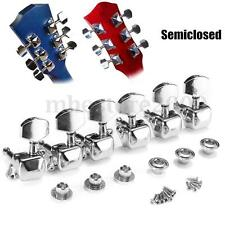 6Pcs Acoustic Guitar String Semiclosed Tuning Pegs Tuners Machine Heads Chrome