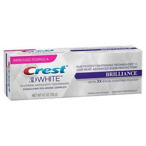Crest 3D White Brilliance Vibrant Peppermint Toothpaste 4.1oz (116g)