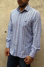 BROOKSFIELD camicia casual da uomo Multi Cotone a Maniche Lunghe Tartan Controllato 40 M