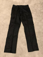 Mens Black Cargo/twill Work Trousers Size 32 Long Brand New