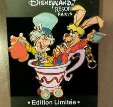 DISNEY PIN DLRP LE ALICE IN WONDERLAND MAD HATTER MARCH HARE TRAIN