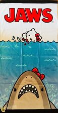 "Universal Studios Hollywood Jaws Hello Kitty Beach Towel Movie Poster 30"" x 60"""