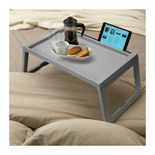 IKEA KLIPSK Bed Tray Breakfast Food Meal Serving Table in Grey with iPad Holder