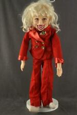 """Vintage Ventriloquist Dummy Goldberger Doll Carol Channing 30"""" Tall Red Outfit"""
