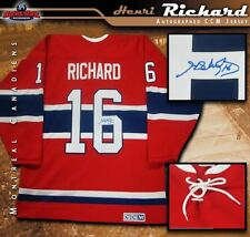 HENRI RICHARD Signed Montreal Canadiens Red CCM Vintage Jersey