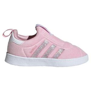 adidas ORIGINALS INFANTS GAZELLE 360 SHOES PINK TRAINERS SLIP ONS TODDLERS GIRLS
