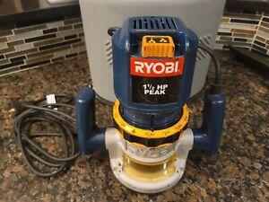 Ryobi R161 Wood Router 1.5HP 8A 25,000 RPM Adjustable Depth w/ Case