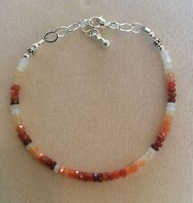 Mexican Fire Opal bracelet with .925 silver