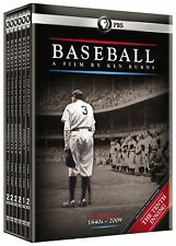 Baseball A Film by Ken Burns (DVD, 2010, 11-Disc Box Set) 1840s-2009 New Sealed