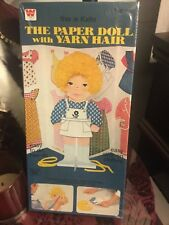 NIB Vintage Whitman Katie The Paper Doll Set Stick Clothes Yarn Hair Ages 5 &Up