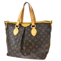 Authentic LOUIS VUITTON Palermo PM Hand Bag Monogram Leather BN M40145 10MF643