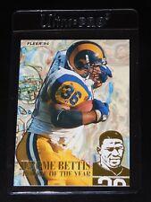 1994 FLEER JEROME BETTIS ROOKIE OF THE YEAR INSERT CARD #7 (Near-Mint - Mint)