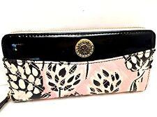 ANNE KLEIN Wallet *The Quilt Trip SLGS ~Blush Black Zip-Around Style* Cluth New