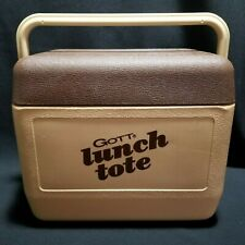 Vintage GOTT Lunch Tote 1806 Tan Brown 6 Pack Cooler USA
