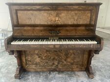 More details for upright challen and son piano, with floral inlaid front panel
