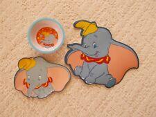 New Disney Store Dumbo Plate Bowl Dinner Set Dinnerware Nwt Meal Time Fun Dinner