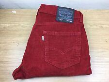 Levis Strauss & Co 511 Blanco Etiqueta de Hombre Pantalón Stretch cordón pantalón Tamaño 34 Cremallera