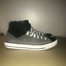 Converse Size 10 Boots Grey, Black & White Converse Basketball Boots