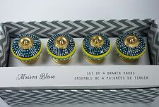 New Maison Bleue Colorful Cabinet Drawer Pull Knobs - Green Yellow White - S/4