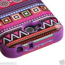 LG OPTIMUS L90 D415 TMOBILE METRO HYBRID T ARMOR CASE SKIN COVER TRIBAL PURPLE