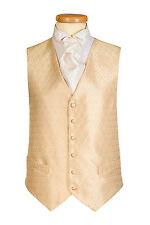 Hombre Oro Diamante Boda Chaleco Vestido Por St James con LISO DORADO ESPALDA