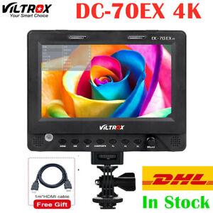 "Viltrox DC-70EX 7"" 4K HD 1024x600 HDMI/SDI/AV Input Output On-Camera LCD Monitor"