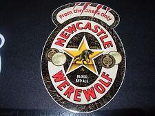 """NEWCASTLE WEREWOLF BLOOD ALE 4"""" Logo STICKER decal craft beer brewery brewing"""