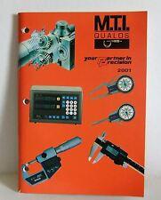M.T.I Qualos 2001 precision hardware tools catalogue guide book very good condit