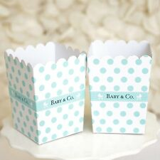 Set of 10 Baby & Co Robin Egg Blue Turquoise Mint Baby Shower Favor Boxes Teal