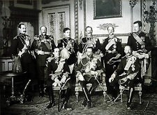Photo of The Nine Sovereigns at Windsor for the funeral of King Edward VII- 1910